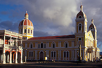 Restored Spanish colonial cathedral in Granada, Nicaragua