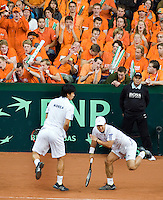 20-9-08, Netherlands, Apeldoorn, Tennis, Daviscup NL-Zuid Korea, Dubbles match: HyungTaik Lee and WongSun Jun