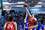 Dominic Robert Gilbert #11 of SCAA Men's Basketball Team (R) in action against Wu Cheuk Pan #30 of Eastern Long Lions (L) during the Final of Hong Kong Basketball League 2018 match between SCAA v Eastern Long Lions on August 10, 2018 in Hong Kong, Hong Kong. Photo by Marcio Rodrigo Machado/Power Sport Images