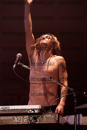 GUNS N' ROSES - keyboard player Dizzy Reed - performing live at the Hammerstein Ballroom in New York USA - 12 May 2006.  Photo credit: George Chin/IconicPix