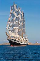 Russian tall ship the Pallada at the Tall Ship Festival in Victoria, British Columbia, Canada.