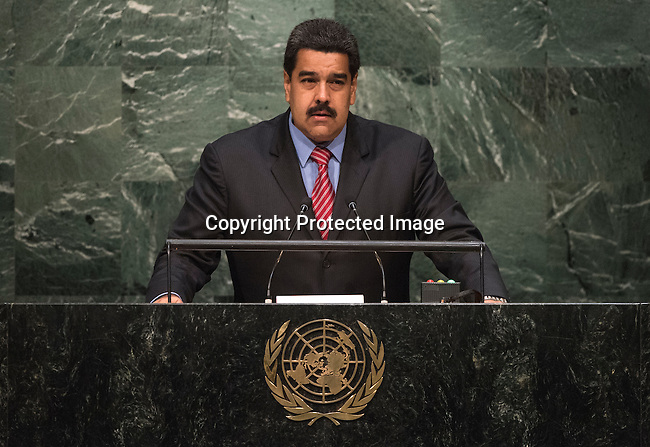 His Excellency Nicol&aacute;s Maduro Moros, President of the Bolivarian Republic of Venezuela  <br /> <br /> General Assembly Seventieth session 9th plenary meeting: High-level plenary meeting of the (6th meeting)