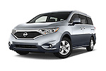 Stock pictures of low aggressive front three quarter view of2015 Nissan Quest SV 5 Door Minivan Low Aggressive