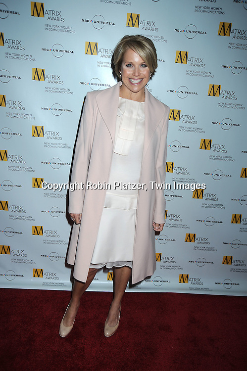 Katie Couric in Max Mara shirt and skirt at The 2010 Matrix Awards on April 19, 2010 at The Waldorf Astoria Hotel in New York City.