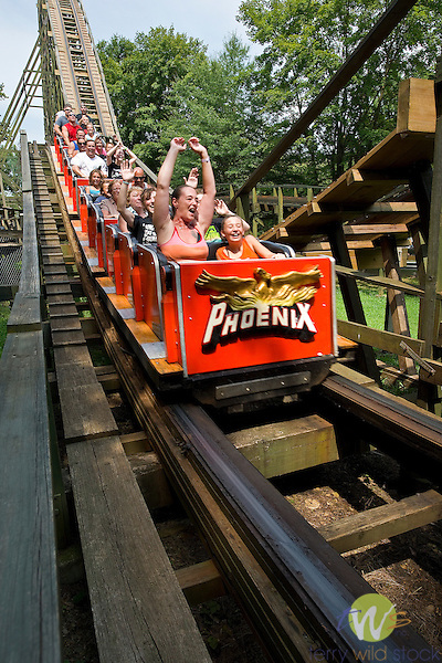Knoebel's Amusement Resort, Elysberg, PA. Phoenix roller coaster