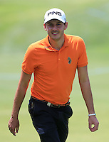 Matthew Nixon (ENG) on the 18th during Round 1 of the ISPS HANDA Perth International at the Lake Karrinyup Country Club on Thursday 23rd October 2014.<br /> Picture:  Thos Caffrey / www.golffile.ie