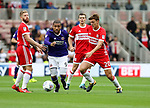 Leon Clarke of Sheffield Utd during the Sky Bet Championship match at the Riverside Stadium, Middlesbrough. Picture date: August 12th 2017. Picture credit should read: Jamie Tyerman/Sportimage