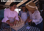 Kutztown PA Dutch Festival, Berks Co PA, Crafts, Basket Making Demonstration