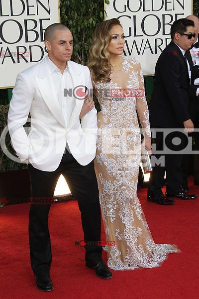 BEVERLY HILLS, CA - JANUARY 13: Casper Smart and Jennifer Lopez at the 70th Annual Golden Globe Awards at the Beverly Hills Hilton Hotel in Beverly Hills, California. January 13, 2013. Credit: mpi29/MediaPunch Inc. /NortePhoto
