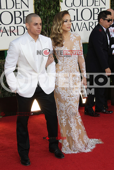 BEVERLY HILLS, CA - JANUARY 13: Casper Smart and Jennifer Lopez at the 70th Annual Golden Globe Awards at the Beverly Hills Hilton Hotel in Beverly Hills, California. January 13, 2013. Credit: mpi29/MediaPunch Inc. /NortePhoto