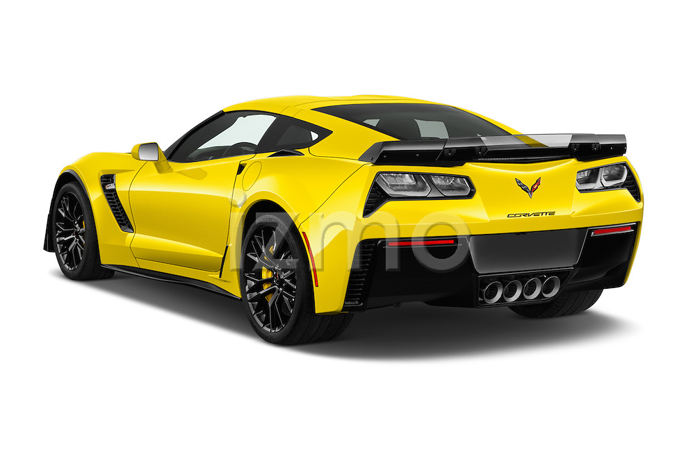 Car pictures of rear three quarter view of 2016 Chevrolet Corvette Z06-Coupe-1LZ 3 Door Targa Angular Rear