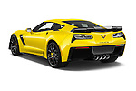 Car pictures of rear three quarter view of 2018 Chevrolet Corvette Z06-Coupe-1LZ 3 Door Targa Angular Rear