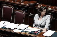 Il Ministro per la Giustizia Paola Severino.Roma 13/06/2012  Camera dei Deputati - Voto di  fiducia sulle norme sulla corruzione nella pubblica amministrazione.Foto Serena Cremaschi Insidefoto