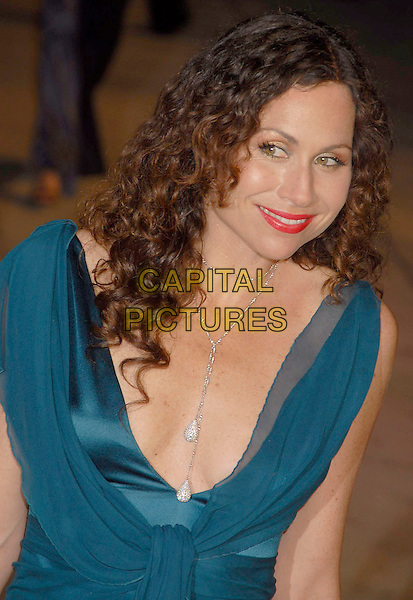 MINNIE DRIVER.The 2007 Vanity Fair Oscar Party Hosted by Graydon Carter held at Morton's, West Hollywood, California, USA, 25 February 2007..oscars half length blue teal dress ruffles red lipstick.CAP/ADM/GB.©Gary Boas/AdMedia/Capital Pictures.