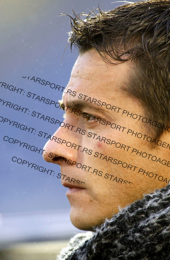 Fudbal, Meridijan super liga, sezona 2007/08.Partizan Vs. Crvena Zvezda.head coach Slavisa Jokanovic.Beograd, 04.05.2008..foto: Srdjan Stevanovic