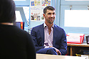 Colgate global ambassador Michael Phelps speaks to media at the Celebration of Campus Sustainability Month at Alain L. Locke Magnet School on Thursday, Oct. 19, 2017 in New York. (Photo by Donald Traill/Invision for Colgate/AP Images)