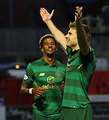 8th September 2017, SuperSeal Stadium, Hamilton, Scotland; Scottish Premier League football, Hamilton versus Celtic; Celtic's Stuart Armstrong celebrates the opening goal in the 17th minute
