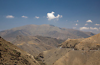 The arid High Atlas Mountains of Southern Morocco.