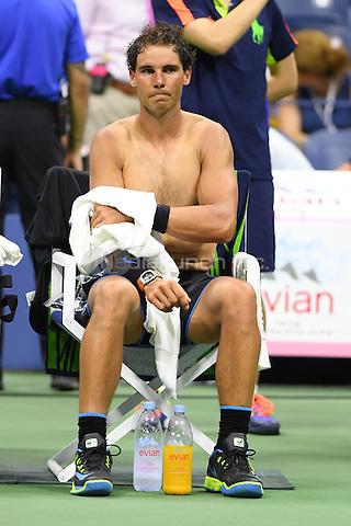 FLUSHING NY- AUGUST 31: Rafael Nadal Vs Andreas Seppi on Arthur Ashe Stadium at the USTA Billie Jean King National Tennis Center on August 31, 2016 in Flushing Queens. Credit: mpi04/MediaPunch