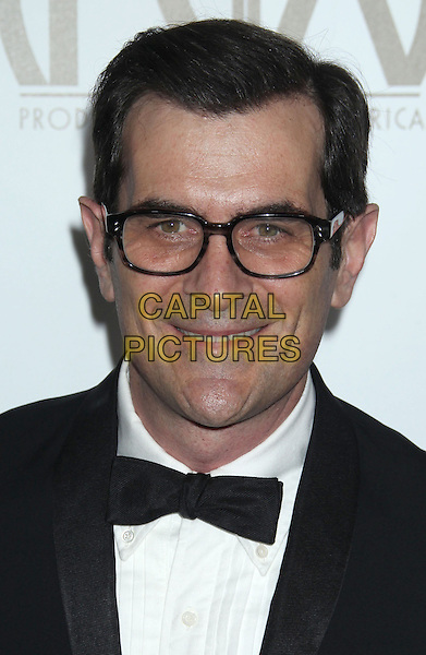 Ty Burrell.At the 24th Annual Producers Guild Awards held at the Beverly Hilton Hotel, Beverly Hills, California, USA,.26th January 2013..PGAs PGA arrivals headshot portrait black white bow tie glasses tuxedo.CAP/ADM/RE.©Russ Elliot/AdMedia/Capital Pictures.
