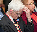 "Dr Jim Swire, whose daughter Flora died when Pan Am Flight 103 crashed at the town of Lockerbie, Scotland, watches the premiere of Al Jazeera's, ""Lockerbie: What Really Happened?"" at the Scottish Parliament."