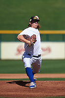 Mesa Solar Sox pitcher Rob Zastryzny (35) delivers a pitch during an Arizona Fall League game against the Scottsdale Scorpions on October 19, 2015 at Sloan Park in Mesa, Arizona.  Scottsdale defeated Mesa 10-6.  (Mike Janes/Four Seam Images)