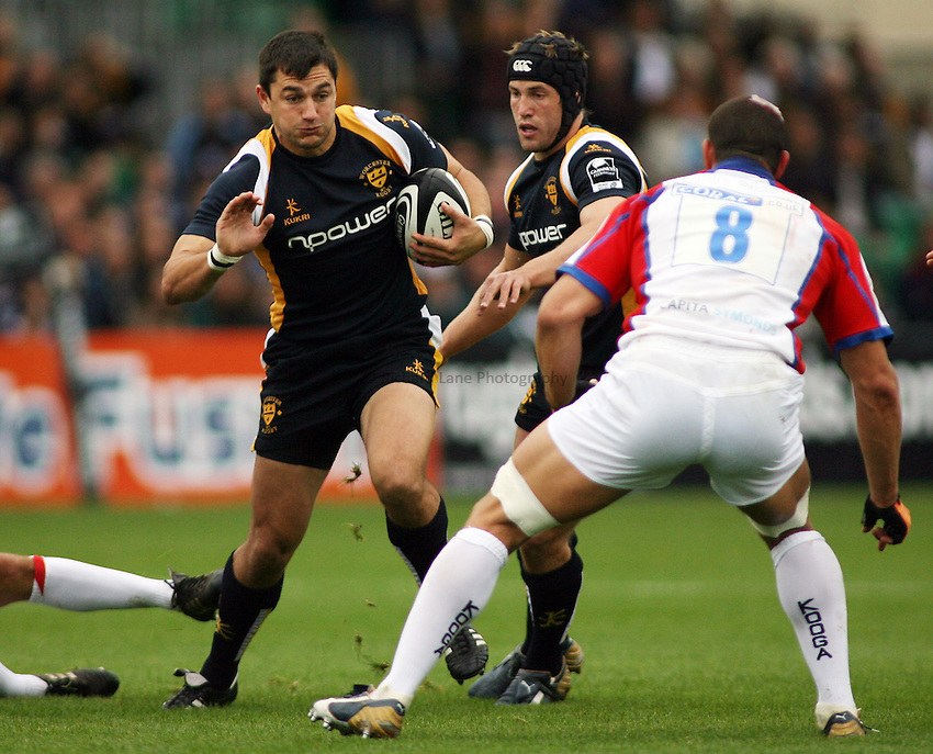 Photo: Rich Eaton...Worcester Warriors v Bristol Rugby. Guinness Premiership. 02/09/2006. Thinus Delport of Worcester.