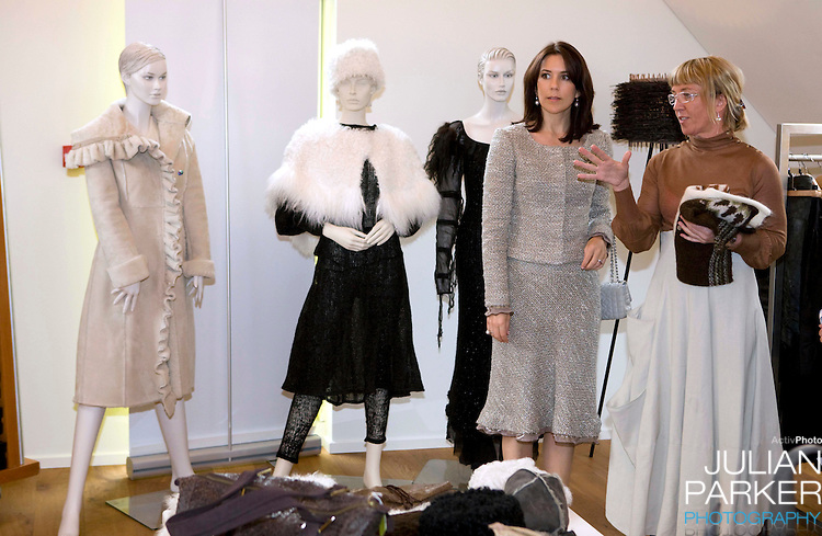 Crown Prince Frederick and Crown Princess Mary of Denmark begin a four day official visit to Iceland, Crown Princess Mary visits, Kraum, a centre for Icelandic Design, in Reykjavik, and is shown around by Managing Director, Halla Bogadottir