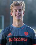UTRECHT -  Justen Blok,  in away / uit shirt speler Nederlands Hockey Team heren. COPYRIGHT KOEN SUYK