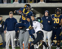 Chris Harper of California catches the ball in the air during the game against Oregon at Memorial Stadium in Berkeley, California on November 10th, 2012.   Oregon Ducks defeated California Bears, 59-17.