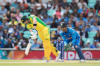 Steve Smith (Australia) drives into the  on side during India vs Australia, ICC World Cup Cricket at The Oval on 9th June 2019