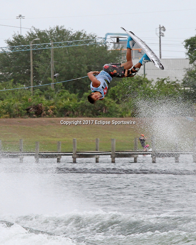 ORLANDO, FL - April 30:  Harley Clifford AUS wins the Men's Professional Division Final of the WWA Nautique Wake Open 2017 at  the Orlando Watersports Complex on April 30, 2017 in Orlando, Florida. (Photo by Liz Lamont/Eclipse Sportswire/Getty Images)