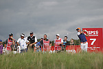 Spanish golfer Rafa Cabrera-Bello hits his tee shot on the 7th hole during the opening round of the ISPS Handa Wales Open 2013 at the Celtic Manor Resort<br /> <br /> 29.08.13<br /> <br /> ©Steve Pope-Sportingwales