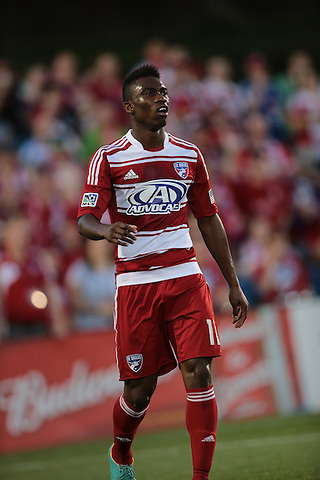 FRISCO, TX - MAY 11: Fabian Castillo #11 of FC Dallas in action during the match - FC Dallas v LA Galaxy at FC Dallas Stadium on May 11, 2013 in Frisco, Texas. (Photo by Rick Yeatts)