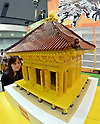 June 14, 2012, Tokyo, Japan - A replica of the Golden Hall of Chusonji, a Buddhist temple in Hiraizumi, Iwate Prefecture, made out of 30,000 pieces of Lego blocks, is displayed at the Tokyo Toy Show on Thursday, June 14, 2012, in Tokyo. The largest domestic exhibition of latest toys runs through Sunday, expecting to draw some 150,000 visitors including buyers from overseas. (Photo by Natsuki Sakai/AFLO) AYF -mis-