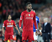 5th January 2020; Anfield, Liverpool, Merseyside, England; English FA Cup Football, Liverpool versus Everton; Divock Origi of Liverpool - Strictly Editorial Use Only. No use with unauthorized audio, video, data, fixture lists, club/league logos or 'live' services. Online in-match use limited to 120 images, no video emulation. No use in betting, games or single club/league/player publications