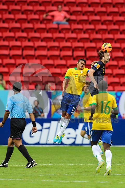 BRASILIA, BRAZIL - SEPTEMBER 07:  during a FIFA Friendly match between Brazil and Australia at Mane Garrincha Stadium on September 07, 2013 in Brasilia, Brazil. (Photo by William Volcov/LatinContent/Getty Images)