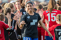 Boston, MA - Saturday April 29, 2017: Margaret Purce and fans during a regular season National Women's Soccer League (NWSL) match between the Boston Breakers and Seattle Reign FC at Jordan Field.