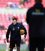 5th November 2017, Riverside Stadium, Middlesbrough, England; EFL Championship football, Middlesbrough versus Sunderland; Robbie Stockdale coach of Sunderland takes the warm up before the match