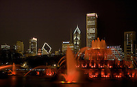Chicago's Buckingham Fountain at Night