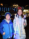 Connor and Lucy Whelan pictured at the fireworks display at Scotch Hall sponsored by Funtasia. Photo:Colin Bell/pressphotos.ie