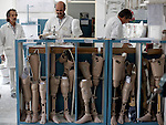 20 August 2011, Kabul, Afghanistan: Orthopedic therapists working in the tool shop at the International Committee of the Red Cross (ICRC) Orthopaedic Centre in Kabul where victims of war as well as the disabled, are fitted with artificial limbs, hand made on the compound. Picture by Graham Crouch for The Australian Magazine