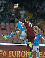 Gokhan Inler  Lukas Marecek   during the Europa League   soccer match between SSC Napoli and Sparta Praha  at  the San Paolo   stadium in Naples  Italy , september 18 , 2014