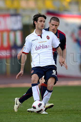 Robert Acquafresca (Cagliari), MARCH 6, 2011 - Football : Italian  Series A  match between Bologna 2-2 Cagliari at Renato Dall'Ara Stadium in Bologna, Italy.