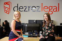 Pictured L-R: Laura Burkinshaw with Laura Carter Wednesday 10 August 2016<br /> Re: dexrexlegal in the SA1 area of Swansea, Wales, UK.