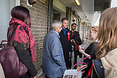 Sadiq Khan with candidate Richard Olszewski.  Labour Party local election campaign, Fortune Green, West Hampstead and Swiss Cottage wards, London Borough of Camden.