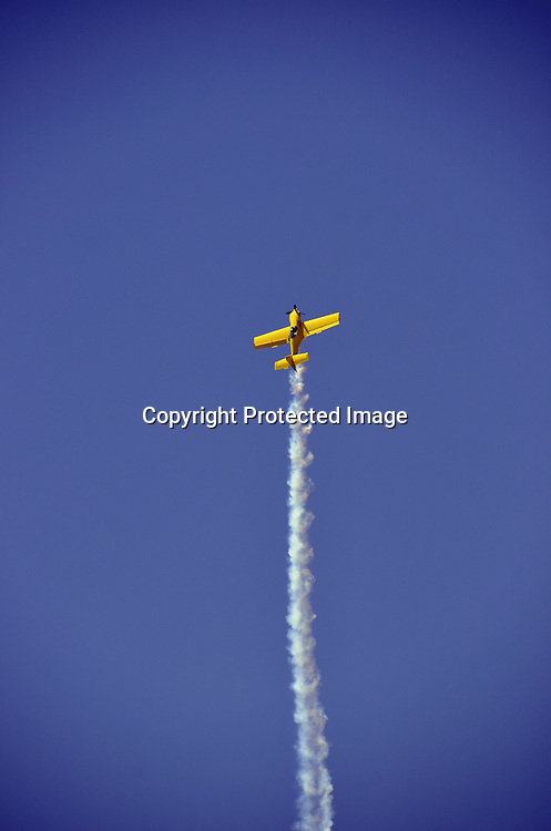 Stunt Plane Aircraft stock photo