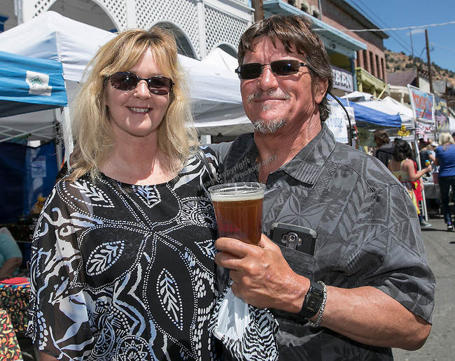 Michael Brammer and Jolene Jensen at the 34th Annual Chili on the Comstock Cook Off in Virginia City on Sunday, May 21, 2017.