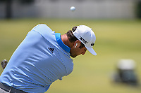Jon Rahm (ESP) warms up on the range before round 2 of the WGC FedEx St. Jude Invitational, TPC Southwind, Memphis, Tennessee, USA. 7/26/2019.<br /> Picture Ken Murray / Golffile.ie<br /> <br /> All photo usage must carry mandatory copyright credit (© Golffile | Ken Murray)