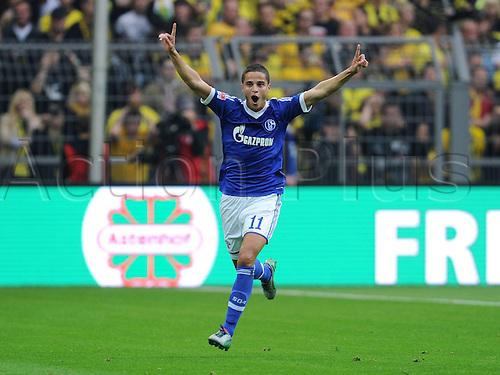 20.10.2012. Dortmund, Germany   Bundesliga  Borussia Dortmund versus FC Schalke 04. cheering from Ibrahim Afellay Schalke 04